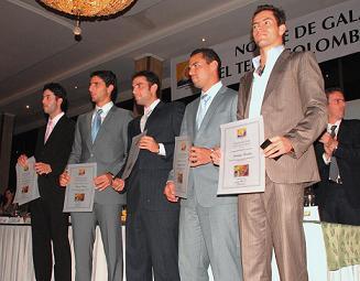 Carlos Salamanca, Robert Farah, Juan Sebastián Cabal, Alejandro Falla y Santiago Giraldo